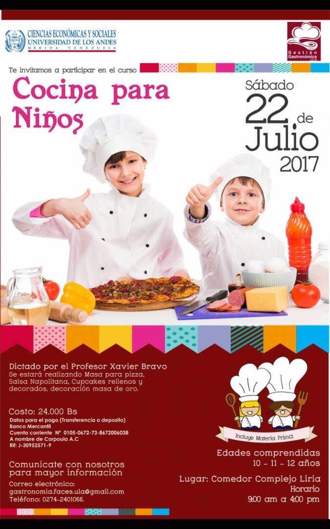 Curso cocina para ni os edades 10 11 12 a os for Cursos de cocina para ninos madrid